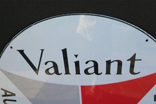 1960s VALIANT SUPER RARE NEW OLD STOCK LARGE ENAMEL ADVERTISING SIGN