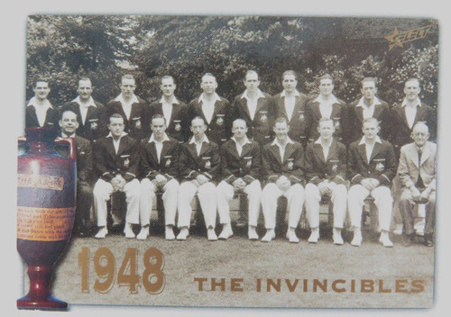 1998 Don Bradman / 1948 Invincibles ACB / Select Australia card. Variation #2