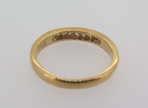 9ct yellow gold & 0.17cttw H diamond wedding ring with valuation $1200