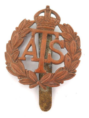 VINTAGE BRITISH MILITARY BADGE ATS. AUXILIARY TERRITORIAL SERVICE.