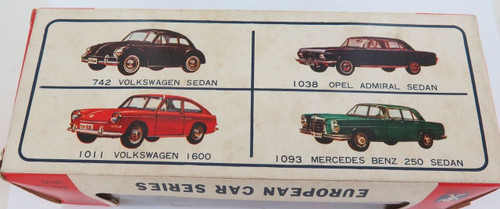"SCARCE c1960's BANDAI EUROPEAN CAR SERIES ""MERCEDES BENZ 250"" + ORIGINAL BOX."