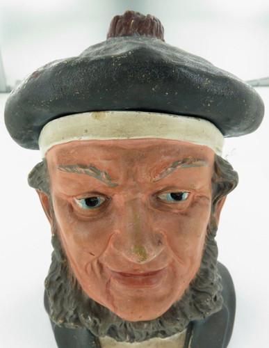 RARE 1800's BERNARD BLOCH LARGE POTTERY TOBACCO JAR. NICE CONDITION.