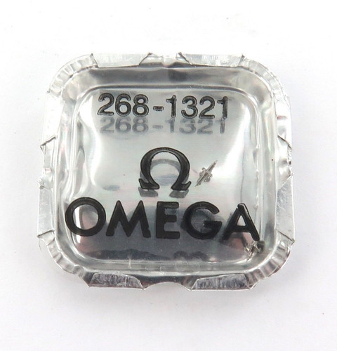 GENUINE / VINTAGE OMEGA CAL. 268 2 x #1321 BALANCE STAFFS, NOS IN PACKET.