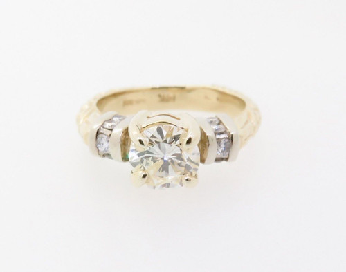 Impressive 1.27ct Diamond Set 14k Yellow Gold Dress Ring Size O Val $8990
