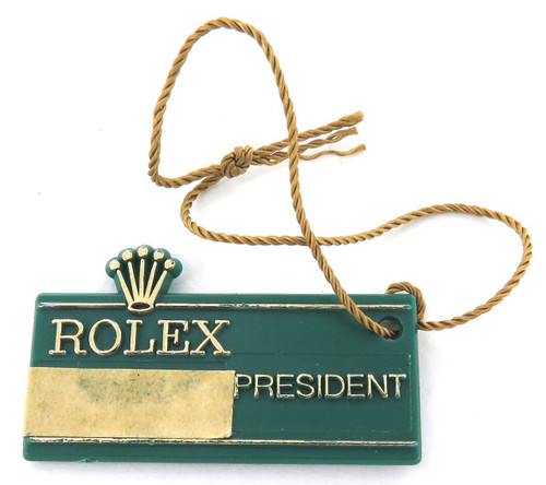 SCARCE 1982 OBSOLETE / OLD STYLE ROLEX PRESIDENT 30J GREEN TAG.