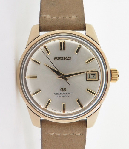 Vintage Seiko GS High Beat 35 jewel Gold Cap Mens Watch Ref 5722-9011