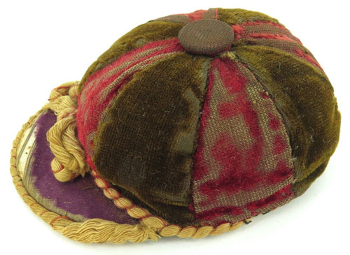 "ANTIQUE ""SCHOOL CAP"" PINCUSHION PIN CUSHION."