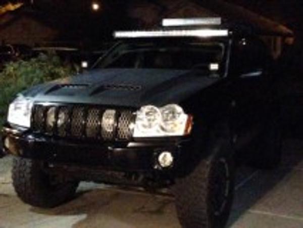 "2005-2010 Jeep Grand Cherokee WK Brackets for 54"" LED Light Bar ....."