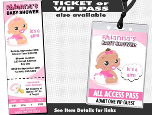 African Baby Girl Pink Baby Shower Invitation Other Styles