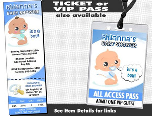 Baby Boy Blue Baby Shower Invitation Other Styles