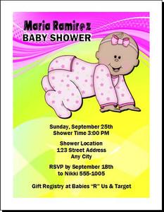 Bebe Muchacha Pink Baby Shower Invitation