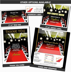 Red Carpet Paparazzi Birthday Party Favors