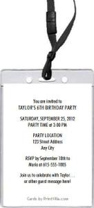 Animal Lover Birthday Party VIP Pass Invitation Back