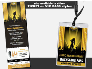 Music Awards Party Gold Postcard Other
