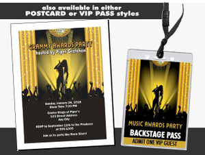 Music Awards Party Gold Ticket Other Styles