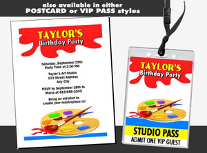 Artist Birthday Party Ticket Invitation Other Styles