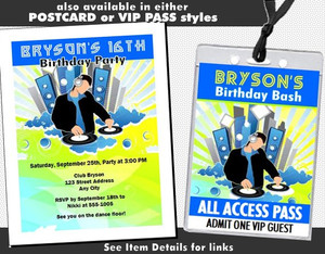 At Da Club Birthday Party Ticket Invitation Other Styles