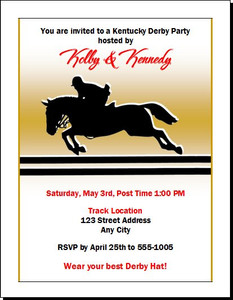 Kentucky Derby Equestrian Party Invitation