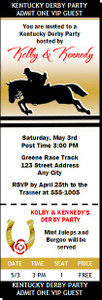 Kentucky Derby Equestrian Party Ticket Invitation