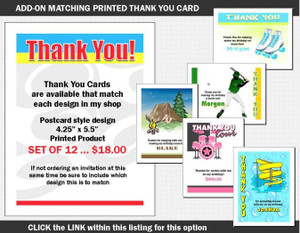 Matching Thank You Card Add-On