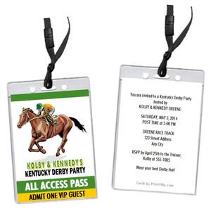 Kentucky Derby Party VIP Pass Invitation Design 2