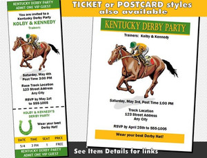 Kentucky Derby Party 2 Invitation Other Styles