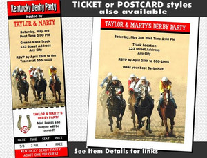 Kentucky Derby The Race Is On Invitation Other Styles