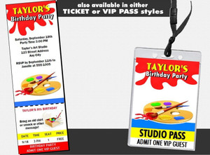 Artist Birthday Party Invitation Other Styles