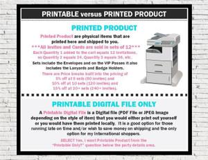 Product Type Printable versus Printed