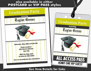 Cap & Diploma Graduation Party Invitation Other Styles