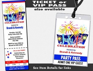 4th of July Celebration Party Invitation Other Styles