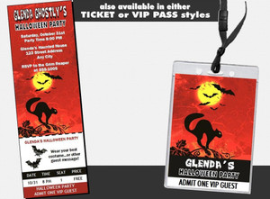 Black Cat Halloween Party Invitation Other Styles