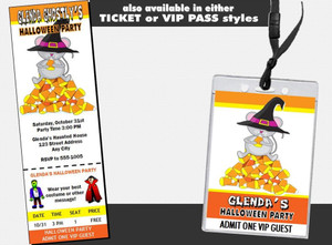 Candy Corn Mouse Halloween Party Invitation Other Styles