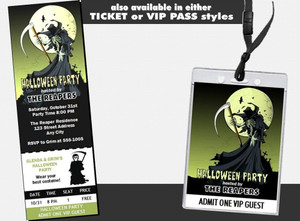 Grim Reaper Halloween Party Invitation Other Styles