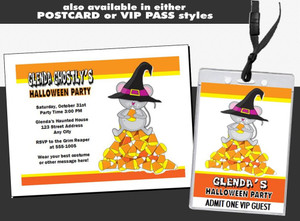 Candy Corn Mouse Halloween Party Ticket Invitation Other Styles