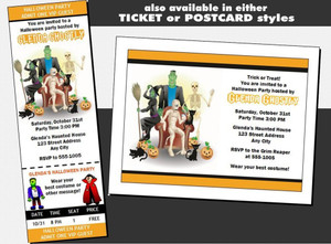 Costume Party Halloween VIP Pass Invitation Other Styles