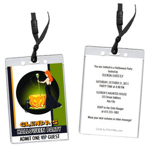 Witch's Brew Halloween Party VIP Pass Invitation