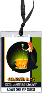 Witch's Brew Halloween Party VIP Pass Invitation Front