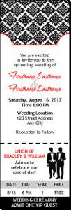 Black & White Gay Wedding Ticket Invitation