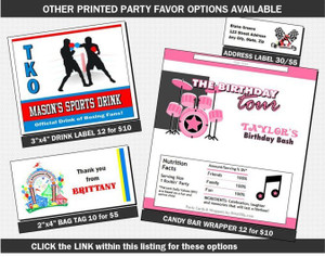 Printed Party Favors Add-On
