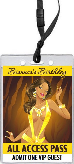 African Tigress Birthday Party VIP Pass Invitation