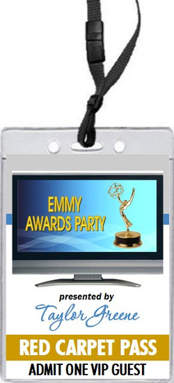 Emmy Awards Party VIP Pass Invitation