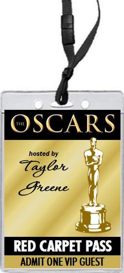 Oscar Awards Golden Party VIP Pass Invitation