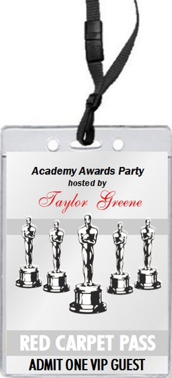 Oscar Awards Silver Party VIP Pass Invitation, Set of 12