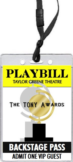 Tony Awards Party Playbill VIP Pass Invitation