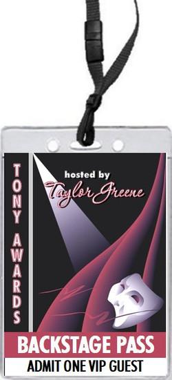 Tony Awards Party Theatre Star VIP Pass Invitation