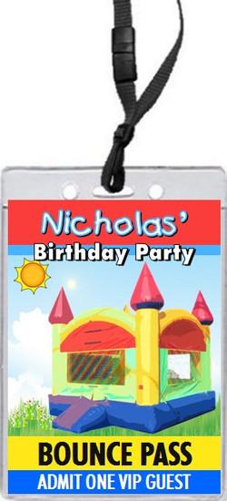 Bounce House Birthday Party VIP Pass Invitation