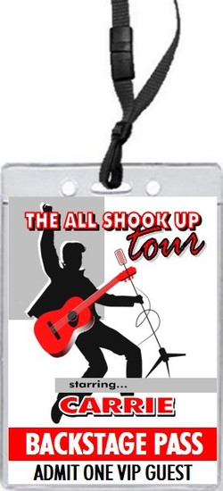 Elvis Inspired Design 2 Birthday Party VIP Pass Invitation