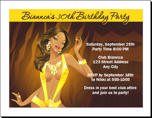 African Tigress Birthday Party Invitation