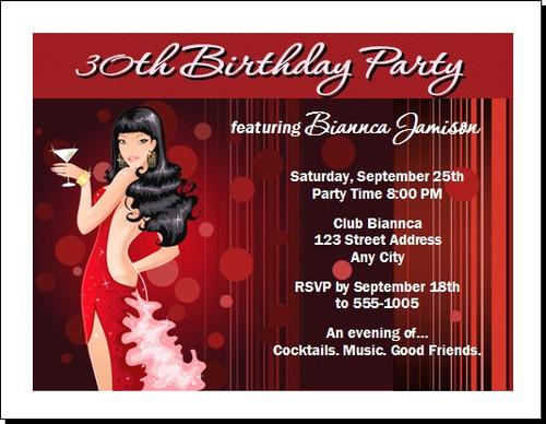 Asian Beauty Birthday Party Invitation